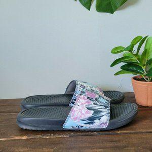 Nike Benassi JDI Floral Print Sandals Slide Sz 9